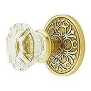 Lancaster Door Set With Fluted Crystal Glass Knobs (item #RS-01EM-8106ASX)