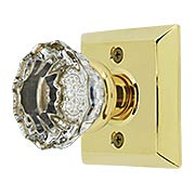 Quincy Rosette Door Set with Astoria Crystal Glass Knobs (item #RS-01EM-8131ASX)
