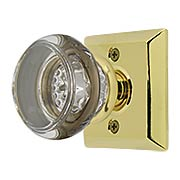 Quincy Rosette Door Set with Georgetown Crystal Glass Knobs (item #RS-01EM-8131GTX)
