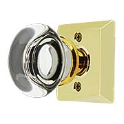 Quincy Rosette Door Set with Providence Crystal Glass Knobs (item #RS-01EM-8131PCX)