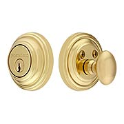 Classic Solid Brass Single-Cylinder Deadbolt - 2 3/8