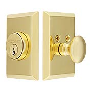 New York Style Single-Cylinder Deadbolt - 2 3/8