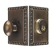 Ovolo Single-Cylinder Deadbolt in Antique-By-Hand (item #RS-01NW-AEDDB-ABHX)