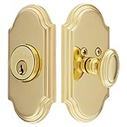 Grandeur Single-Cylinder Deadbolt with Arc Plates (item #RS-01NW-ARCX)