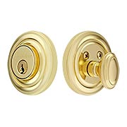 Grandeur Single-Cylinder Deadbolt with Circulaire Plates (item #RS-01NW-CIRX)