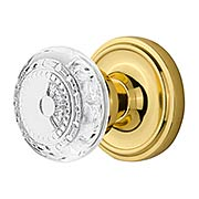 Classic Rosette Door Set with Meadows Crystal-Glass Knobs (item #RS-01NW-CLACMEX)