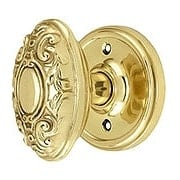 Classic Rosette Door Set with Decorative Oval Knobs (item #RS-01NW-CLAVICX)