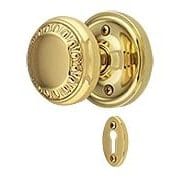 Classic Rosette Mortise-Lock Set with Ovolo Knobs (item #RS-01NW-MCLAAEDX)