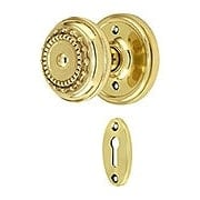 Classic Rosette Mortise Lock Set With Meadows Design Knobs (item #RS-01NW-MCLAMEAX)