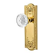 Meadows Door Set with Matching Crystal-Glass Knobs (item #RS-01NW-MEACMEX)