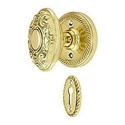 Rope Rosette Mortise Lock Set With Decorative Oval Knobs (item #RS-01NW-MROPVICX)