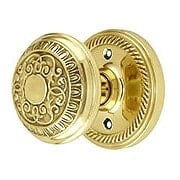 Rope Rosette Door Set With Egg & Dart Door Knobs (item #RS-01NW-ROPEADX)