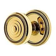Grandeur Soleil Rosette Door Set with  Soleil Knobs (item #RS-01NW-SOLSOLX)