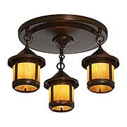 Berkeley Flush Mount 3 Light Fixture In Bronze Finish (item #RS-03AC-BCM-6S-3X)