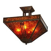 Prairie Semi-Flush Ceiling Light In Bronze Finish (item #RS-03AC-PIH-15X)
