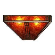 Prairie Single Pocket Sconce In Bronze Finish (item #RS-03AC-PS-12X)