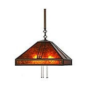 Prairie Large Down-Light Pendant In Bronze Finish (item #RS-03AC-PSH-18X)