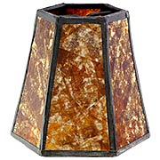 Mica Panel Hexagon Mini Shade 3 3/4-Inch Height (item #RS-03BP-00750MX)