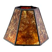 Mica Panel Hexagon Mini Shade 4 1/4-Inch Height (item #RS-03BP-00751MX)