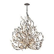 Graffiti 12-Light Pendant in Silver Leaf (item #RS-03CO-154-412X)