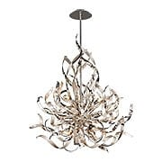 Graffiti 6-Light Pendant in Silver Leaf (item #RS-03CO-154-46X)
