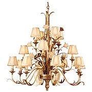 Tivoli Sixteen Light Chandelier in Silver (item #RS-03CO-49-016X)