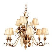 Tivoli Nine Light Chandelier in Silver (item #RS-03CO-49-09X)