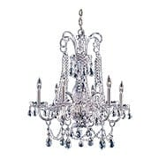 Cut Crystal 6 Light Chandelier With Polished Chrome Accents (item #RS-03CR-1030-CH-CL-MWP)