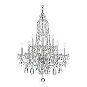 Traditional Crystal 10 Light Chandelier (item #RS-03CR-1110X)