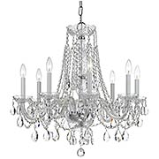 Traditional Crystal 8 Light Chandelier (item #RS-03CR-1138X)