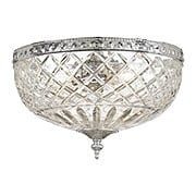 Crystal Shade Flush Mount In Polished Chrome (item #RS-03CR-117-12-CH)