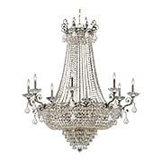 Majestic 8 Arm Crystal Chandelier In Historic Brass Finish (item #RS-03CR-1488-HB-CL-MWP)