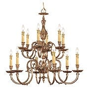 Novella 12 Light Chandelier In Olde Brass (item #RS-03CR-2612-OB)