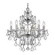 Maria Theresa Crystal 6 Light Chandelier (item #RS-03CR-4335X)