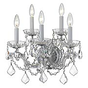 Maria Theresa Crystal 5 Light Wall Mount (item #RS-03CR-4404X)
