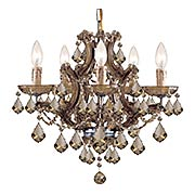 Maria Theresa Clear Crystal 6 Light Mini Chandelier (item #RS-03CR-4405X)