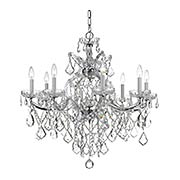 Maria Theresa Clear Crystal and Glass 9 Light Chandelier (item #RS-03CR-4409X)