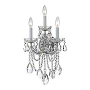Maria Theresa Clear Crystal 3 Light Wall Mount (item #RS-03CR-4423X)