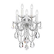 Maria Theresa Clear Crystal 5 Light Wall Mount (item #RS-03CR-4425X)