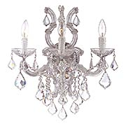 Maria Theresa Clear Crystal and Glass 3 Light Wall Mount (item #RS-03CR-4433-CH-CL-MWP)
