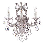 Maria Theresa Wall Sconce With Clear Crystals In Chrome (item #RS-03CR-4433X)