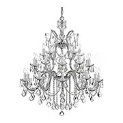 Maria Theresa Clear Crystal 26 Light Chandelier (item #RS-03CR-4470X)