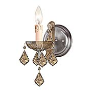 Maria Theresa Clear Crystal 1 Light Wall Mount (item #RS-03CR-4471X)