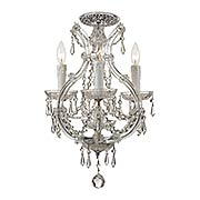 Maria Theresa Clear Crystal 4 Light Semi-Flush Mount (item #RS-03CR-4473CX)