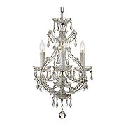 Maria Theresa Clear Crystal 4 Light Mini Teardrop Chandelier (item #RS-03CR-4473X)