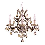 Maria Theresa Clear Crystal 4 Light Mini Chandelier (item #RS-03CR-4474X)