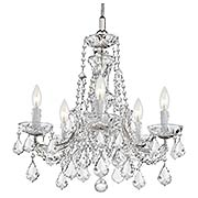 Maria Theresa Clear Crystal 5 Light Mini Chandelier (item #RS-03CR-4476X)