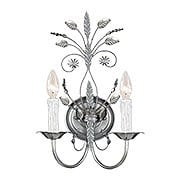 Primrose Wall Sconce With Silver Leaf Finish (item #RS-03CR-4702-SL)