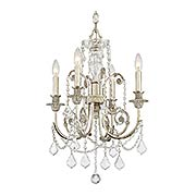 Regis 4 Light Mini Chandelier (item #RS-03CR-5114-OS-CL-MWP)