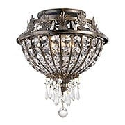 Vanderbilt Iron & Crystal Small Ceiling Light With English Bronze Finish (item #RS-03CR-5163-EB-CL-MWP)